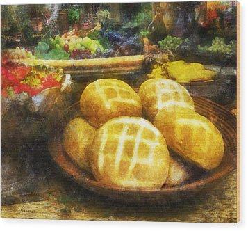 Bread Table Wood Print