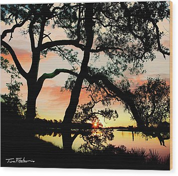 Break Of Dawn Wood Print