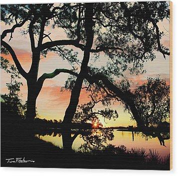 Break Of Dawn Wood Print