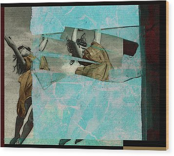 Break The Sky Wood Print by Adam Kissel