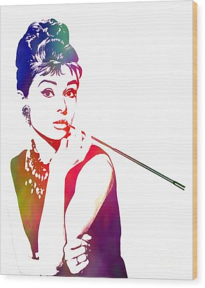 Breakfast At Tiffany's Wood Print by The DigArtisT