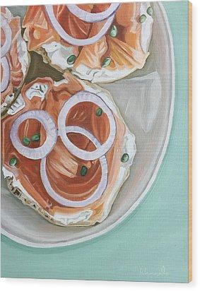 Breakfast Delight Wood Print by Nathan Rhoads