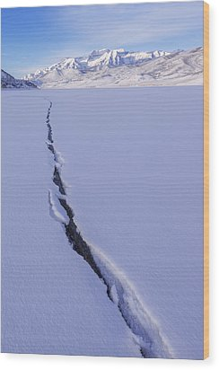 Breaking Ice Wood Print by Chad Dutson