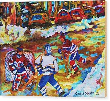 Breaking  The Ice Wood Print by Carole Spandau