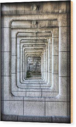 Breaking Through The Forth Wall Wood Print by David LaSpina