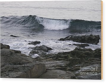 Wood Print featuring the photograph Breaking Waves by Carol  Bradley