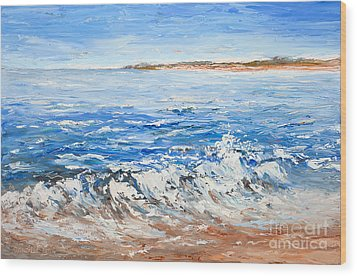 Breaking Waves Wood Print