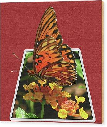 Breakout Butterfly Wood Print