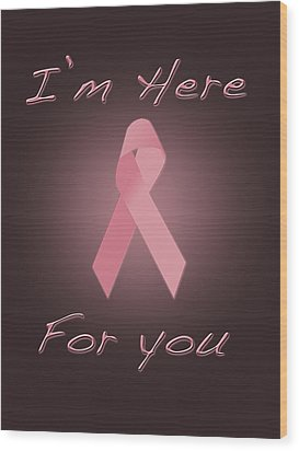 Breast Cancer Wood Print by Jim  Hatch