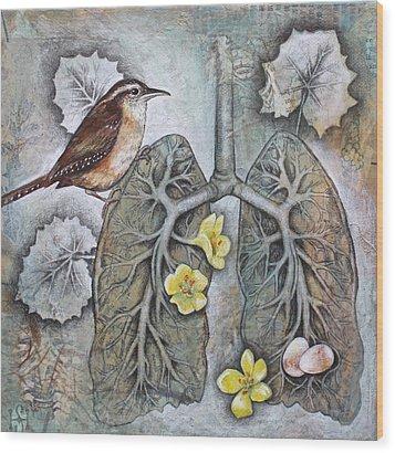 Breath Of Life Wood Print by Sheri Howe