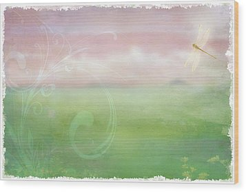 Wood Print featuring the digital art Breath Of Spring by Christina Lihani