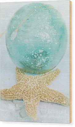 Breathe  . . .   Like Water Wood Print by Sharon Mau