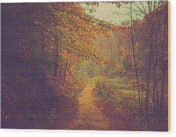 Wood Print featuring the photograph Breathe In Autumn by Shane Holsclaw