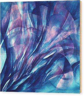 Breathing Blue Wood Print by Sue Reed