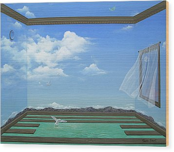 Breathing Room Wood Print by Sharon Ebert