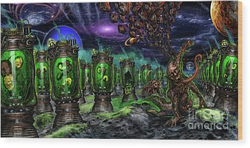 Breeding On Other Lands Wood Print