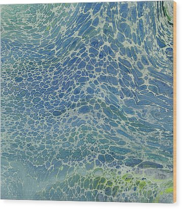 Breeze On Ocean Waves Wood Print