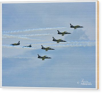 Wood Print featuring the photograph Breitling Air Show by Linda Constant