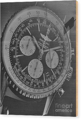 Breitling Chronometer Wood Print by David Bearden