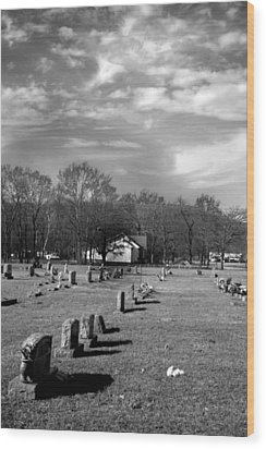 Brentway-cemetery Wood Print by Curtis J Neeley Jr