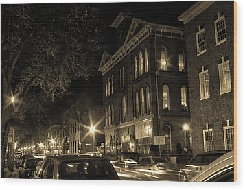 Wood Print featuring the photograph Market Street by Robert Geary