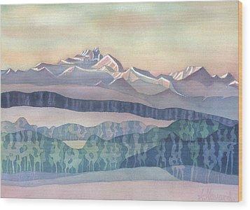 Brian Boru Mountain Wood Print by Anne Havard