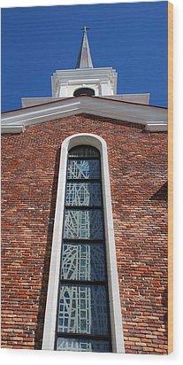 Wood Print featuring the photograph Brick Church by Rob Hans