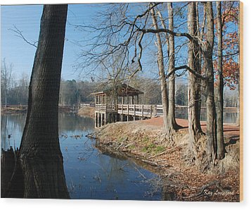 Wood Print featuring the photograph Brick Pond Park by Kay Lovingood