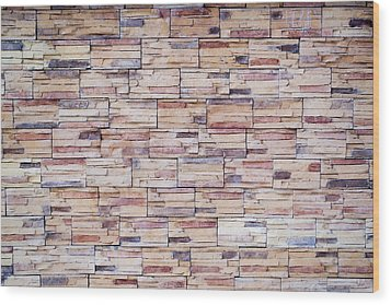 Brick Tiled Wall Wood Print by John Williams