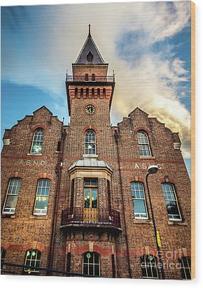 Wood Print featuring the photograph Brick Tower by Perry Webster