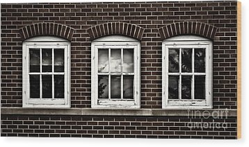 Wood Print featuring the photograph Brick Trio by Brad Allen Fine Art