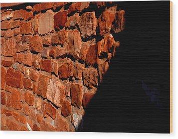 Brick Wall Wood Print by Jennilyn Benedicto