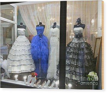 Bridal Fashion Of St. Petersburg Wood Print by Margaret Brooks