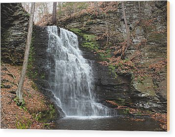Wood Print featuring the photograph Bridal Veil Falls by Linda Sannuti