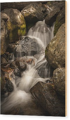 Bridal Veil Water Wood Print