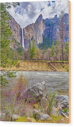 Wood Print featuring the photograph Bridalveil Fall  by Scott McGuire