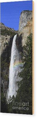 Bridalveil Falls - Yosemite Wood Print by Deby Dixon