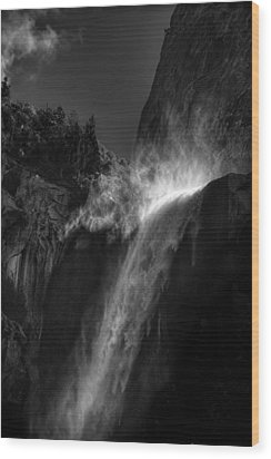 Bridalveil Falls-yosemite Wood Print by Jim Dohms