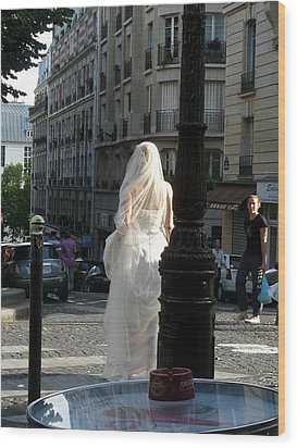 Wood Print featuring the photograph Bride Of Paris by Rdr Creative