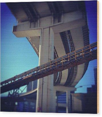 #bridge #橋 #actcute Wood Print by Bow Sanpo
