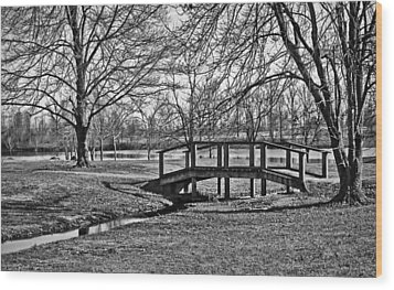 Wood Print featuring the photograph Bridge And Branches by Greg Jackson