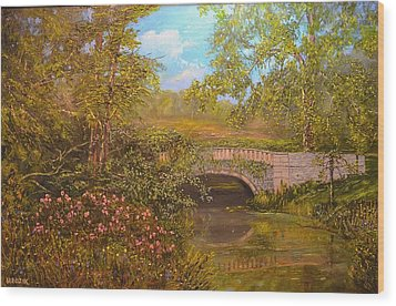 Bridge At Minterne Wood Print