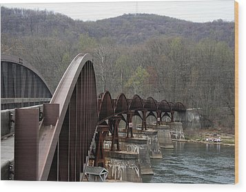 Bridge At Ohiopyle Pennsylvania Wood Print