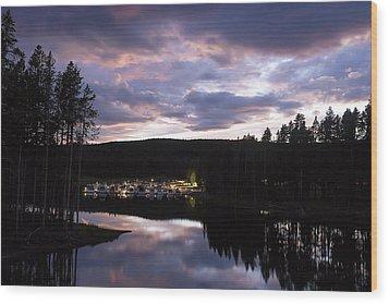 Bridge Bay Sunset Wood Print by Cynthia Bruner