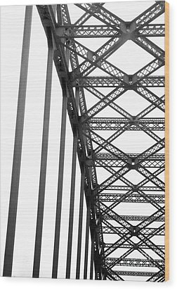 Wood Print featuring the photograph Bridge by Brian Jones