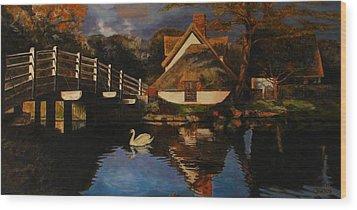 Bridge Cottage Wood Print