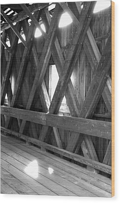 Bridge Glow Wood Print by Greg Fortier