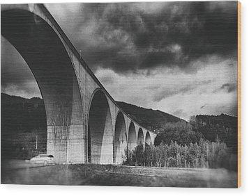 Wood Print featuring the photograph Bridge by Hayato Matsumoto