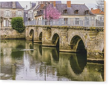 Bridge In The Loir Valley, France Wood Print by Menachem Ganon