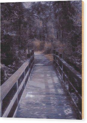 Bridge In The Shenandoah Wood Print by Susan  Epps Oliver